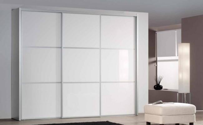 Frente armario cristal blanco